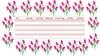 Blumen Stundenplan Vordruck mit Rosen in Pink und Rosa
