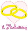 Glückwünsche zum zweiten Hochzeitstag