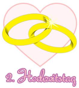 Spr�che zum 2. Hochzeitstag