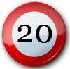 Glückwünsche zum 20. Geburtstag