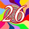 Glückwünsche zum 26. Geburtstag