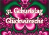 31. Geburtstag Gl�ckw�nsche