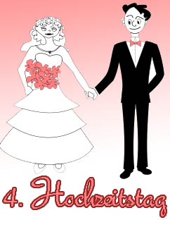 4. Hochzeitstag