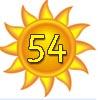 Glückwünsche und Sonne zum 54.