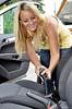 Innenreinigung im Auto